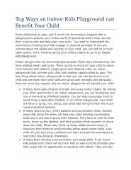 Top Ways an Indoor Kids Playground can Benefit Your Child.pdf