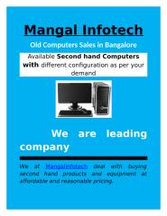Old Computers Sales in Bangalore.docx