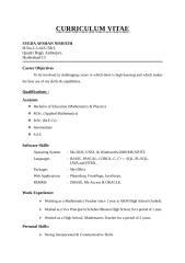 CV of Afshan1.doc