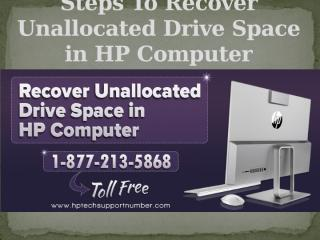 Steps To Recover Unallocated Drive Space in HP Computer.pptx