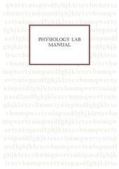 Physiolgy lab manual.pdf