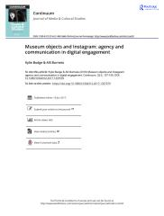 Museum objects and Instagram agency and communication in digital engagement.pdf